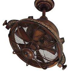 Traditional Gyro Twin Ceiling Fan In Belcaro Walnut Finish