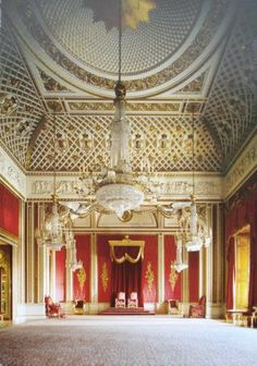 Throne Room At Buckingham Palace ~ LOndon, England