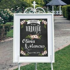 Custom Chalkboard Welcome Sign Wedding by CreativeUnionDesign, $15.00