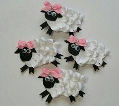 Check out this item in my Etsy shop https://www.etsy.com/ca/listing/268436251/bo-little-sheep-ribbon-sculpture-hair