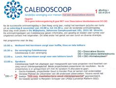 This Content: Language Dutch ! 22-10-2014 (c) NiqueEUDisja G+  www.complex-trauma.eu  Let op dit is GEEN GRAP: Caleidoscoop DIS-zorg heeft totaal NIETS te maken met Dissociatie of de Dissociatieve Identiteitsstoornis !  Lees meer hierover op: http://disjanique.wordpress.com/2014/10/21/caleidoscoop-dis-een-steekje-los/