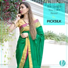 Royal and Graceful Silk Sarees By PICKSILK- Each skilfully designed to make you gorgeous for the festive season. Shop here : #picksilk #silksarees #festivewear #excluivedesings #shopnow