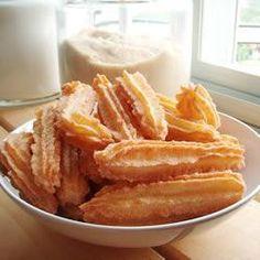 Churros con azúcar @ allrecipes.com.ar