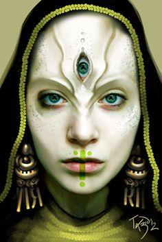 Amqua, Göttin der Unsichtbarkeit und Sichtbarkeit