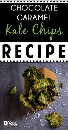 These chocolate caramel kale chips might sound like a strange combination but they are going to blow you away with their deliciousness. Once you eat one of these, you will be making them all the time, I promise! Fruit Smoothie Recipes, Smoothie Prep, Vegan Smoothies, Smoothie Ingredients, Kale Chip Recipes, Beef Recipes, Whole Food Recipes, Healthy Recipes, Snack Recipes