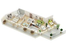 Whether you're moving into a new house, building one, or just want to get inspired about how to arrange the place where you already live, it can be quite helpful to look at 3D floorplans. These images, from top designers and architects, show a variety of ways that the same standards – in this case, …