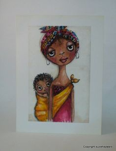 African Mother and child print by suziehayward on Etsy, $22.00