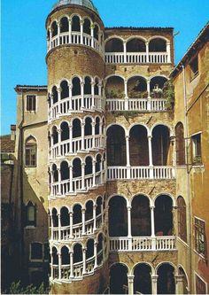The Scala Contarini Bovolo in Venice, Italy.