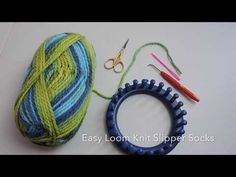 The looms I use in this video Knifty Knitter 24 peg loom: . The yarn brand and color for this video: . This video shows how to loom knit a pair of slipper socks. Knitting Loom Socks, Round Loom Knitting, Loom Knitting Stitches, Knifty Knitter, Loom Knitting Projects, Knitted Slippers, Crochet Slippers, Easy Knitting, Slipper Socks