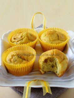 Muffin salgado com gorgonzola e nozes