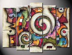 Quadra by Eric Waugh - Canvas, Wood, Acrylic, Aluminium - ArtToCanvas