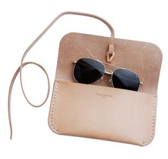 Kenton Sorenson Natural Leather Sunglass Case