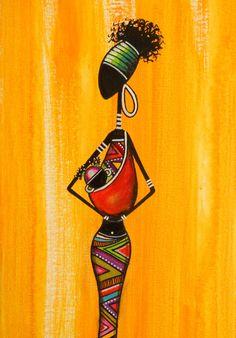 Tableau d'une petite Rasta'couette et sa maman : Peintures par sylphide