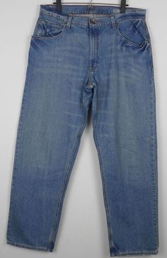 Levi's SilverTab Baggy Jeans Mens Size 34 Measures 35 x 34 Med Blue Wash Cotton #SilverTab #BaggyLoose