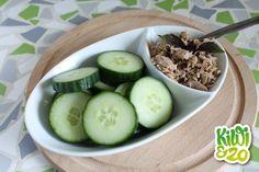 Simpel gezond tussendoortje: tonijn/komkommerhapjes