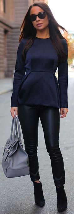 LOVE!!! Peplum tops+skinny jeans=fabu!