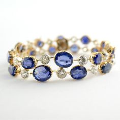 jewel, jewelry, bangle, blue, white, stones, pretty, delicate, love