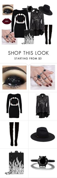 """""""Untitled #35"""" by queenharley666 ❤ liked on Polyvore featuring Boohoo, Alexander McQueen, Christian Louboutin and Edie Parker"""
