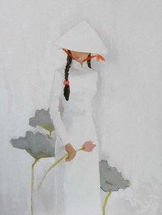 Marcia Batoni - Artes Visuais: *Ha Huynh My Japanese Painting, Chinese Painting, Chinese Art, Japanese Art, Scrapbooking Image, Vladimir Kush, Art Asiatique, Josephine Wall, Thomas Kinkade