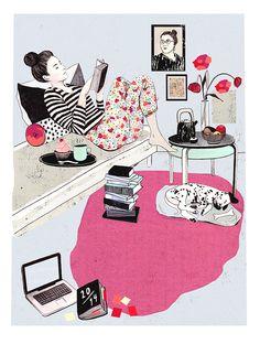 Editorial illustration for »Kauneus & Terveys« magazine | Laura Laakso