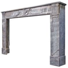 A French Louis the 16th period grey marble fireplace - 18th century