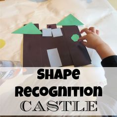 Learn shapes, develop fine motor skills and discuss Castle with this fun craft! Shape Recognition Castle - My Mundane and Miraculous Life