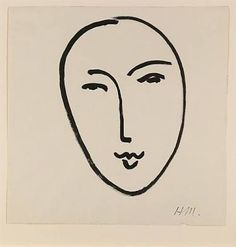 Image result for simple line drawing face