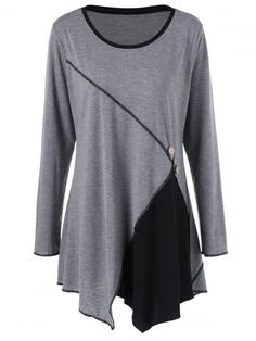 GET $50 NOW | Join RoseGal: Get YOUR $50 NOW!http://www.rosegal.com/plus-size-t-shirts/plus-size-stitched-asymmetric-tunic-998479.html?seid=2275071rg998479