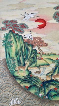 전국민화 공모전 <꿈꾸는 세상> : 네이버 블로그 Geisha Kunst, Geisha Art, Chinese Element, Chinese Art, Korean Art, Asian Art, Korean Painting, Oriental, Little Doodles
