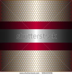 Shiny silver metal background.shiny silver line.shiny red line.shiny red metal .gold plate with hexagon holes style design