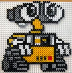 wall e and eve art * wall e and eve . wall e and eve human . wall e and eve drawing . wall e and eve tattoo . wall e and eve painting . wall e and eve wallpaper . wall e and eve costume . wall e and eve art Easy Perler Bead Patterns, Melty Bead Patterns, Perler Bead Templates, Diy Perler Beads, Perler Bead Art, Beading Patterns, Peyote Patterns, Disney Hama Beads Pattern, Quilt Patterns