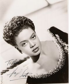 Hazel Scott June 11, 1920 – October 2, 1981   Hazel Scott  was born in Port of Spain, Trinidad and Tobago and raised in New York City  She was known for improvising on classical themes and also played bebop, blues, and ballads. She was the first African American woman to have her own television show, The Hazel Scott Show, which premiered on the DuMont Television Network on 3 July 1950.