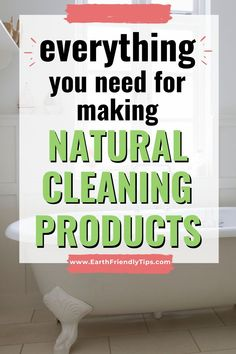 You can get rid of toxic chemicals and cleaners in your house when you start making your own homemade natural cleaning products. This list offers a one-stop place where you can find the all ingredients and supplies you need to make natural cleaning products. #ecofriendly #natural #cleaning #homemade