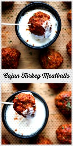 #healthyrecipe #meatballs #delicious #perfect #cooling #spiced #served #friend #turkey #ground #baked #ra... Cajun Turkey, Ground Turkey Meatballs, Ground Turkey Recipes, Spices, Healthy Recipes, Breakfast, Food, Breakfast Cafe, Essen