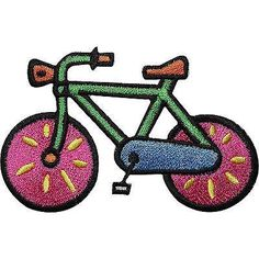 Bicycle Embroidered Iron / Sew On Patch Cycling Bike Clothes Bag T Shirt Badge Size 8.6 cm Width and 5.5 cm Height. How to Iron on a Patch Lay your cloth on a f