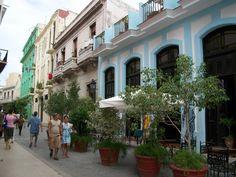 The streets in Havana, Cuba are always so colorful Cuba Tours, Cuba Travel, Street View, Sidewalks, Havana Cuba, Riveting, City, Nostalgia, Colorful