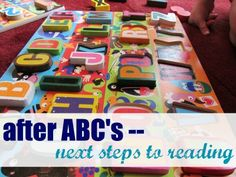 What to do after kids learn their abc's: next steps to reading.