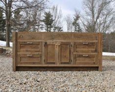 Meuble rustique sur mesure 54 po vanité bois de grange récupéré