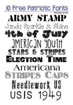 10 Free Patriotic Fonts The Benson Street - Fonts - Ideas of Fonts - 10 Free Patriotic Fonts The Benson Street Calligraphy Fonts, Typography Fonts, Hand Lettering, Lettering Ideas, Typography Design, Fancy Fonts, Cool Fonts, Awesome Fonts, Silhouette Fonts