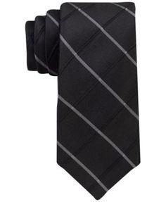 CALVIN KLEIN Calvin Klein Men'S Waffle Windowpane Slim Tie. #calvinklein # ties