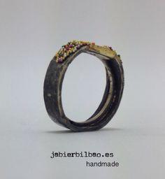 oxidized silver ring anillo de plata oxidada