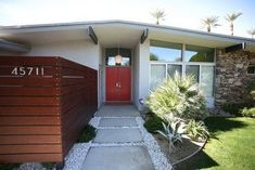 mid century modern front yard landscaping - Google Search