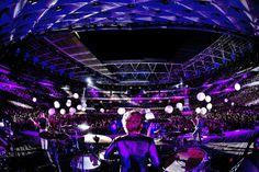 Muse concert. Wembley Stadium. London, England.