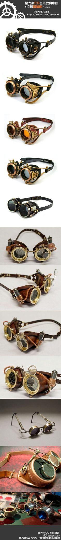 Прохладный #steampunk #eyewear. Я бы носить их в то время как избавлении мой велосипед #steampunkeer ...
