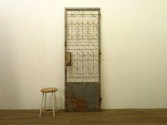 a371【H200×W68.5】 アンティーク アイアンのドア 検ゲート インテリア 雑貨 家具 Antique iron gate ¥58000yen 〆04月28日