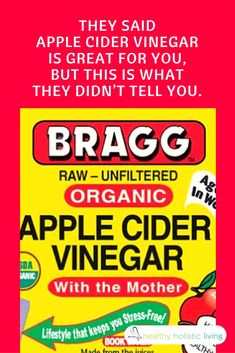 They Said Apple Cider Vinegar is Great for You, BUT This is What they Didn't Tell You. #ACV #applecidervinegar