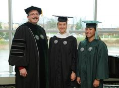 Graduation gowns from Eastern Michigan University made from plastic bottles.  Feel like soft polyester.