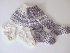 Toiveestanne kirjoitan tänne nyt lyhen ja ytimekkään ohjeistuksen näihin äitini suunnittelemiin vauvan kirjoneulesukkiin sekä taape... Crochet Socks, Knit Or Crochet, Knitting Socks, Hand Knitting, Knitting For Kids, Baby Knitting Patterns, Sewing Patterns, Toddler Clothes Diy, Best Baby Socks