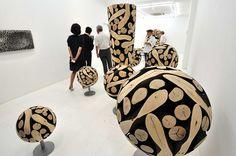 Lee Jae-Hyo - wood spheres