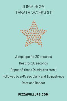 12 Minute Tabata workout-Jump rope-